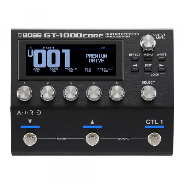 Multi effet guitare élec. en pédalier Boss GT-1000CORE Guitar Effects Processor
