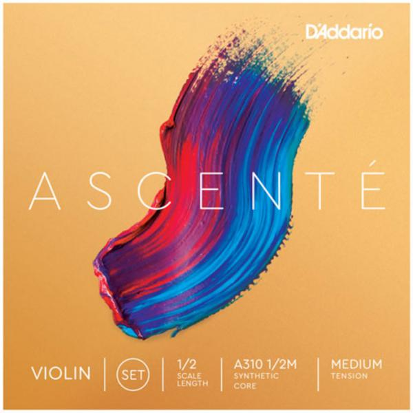 Corde violon D'addario Ascenté Violin A310, 1/2 Scale, Medium Tension