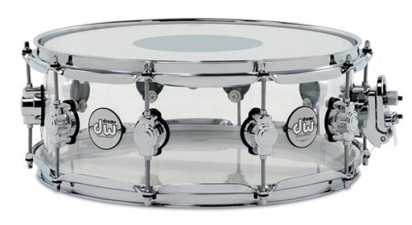 Caisse claire Dw ACRY 14X8 SMOKED ACRYLIC - Transparent