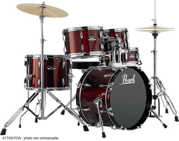 Batterie acoustique junior Pearl Roadshow Junior 18 RS585CC-91 - 5 fûts - Red wine