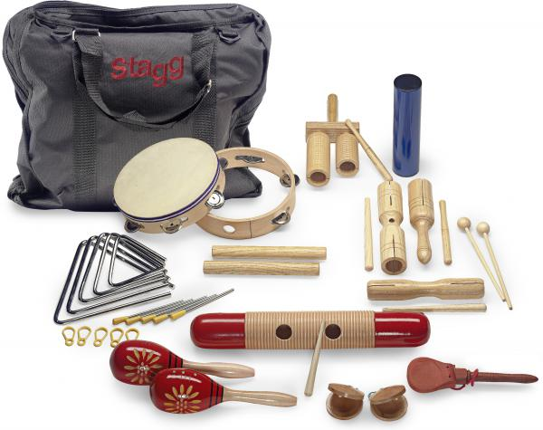 Set percussion enfants Stagg Kit de percussion Junior CPJ-05 + sac