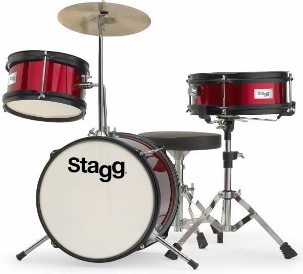 Batterie acoustique junior Stagg TIM JR3/12 RD - 3 fûts - Rouge